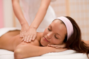 Body care - woman back massage